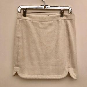 J.Crew Wool Blend WhiteCream Mini Skirt